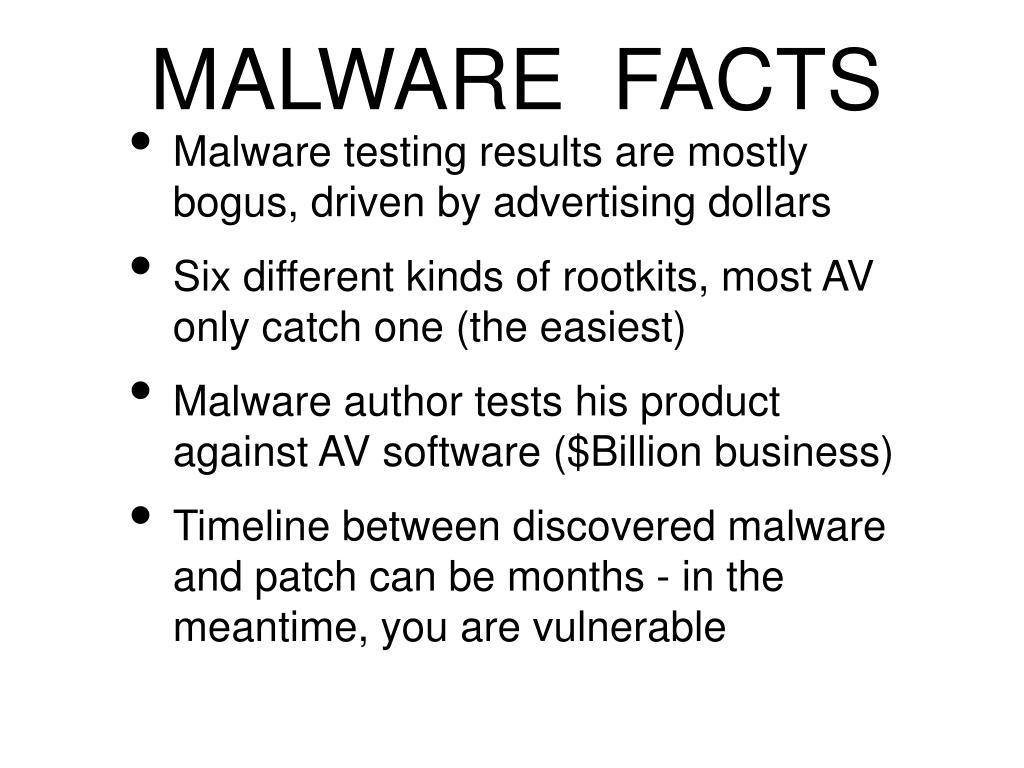 MALWARE  FACTS