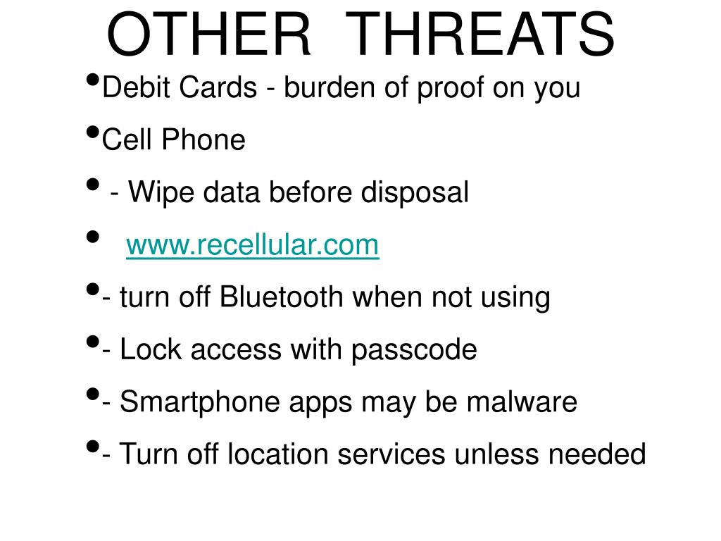 OTHER  THREATS