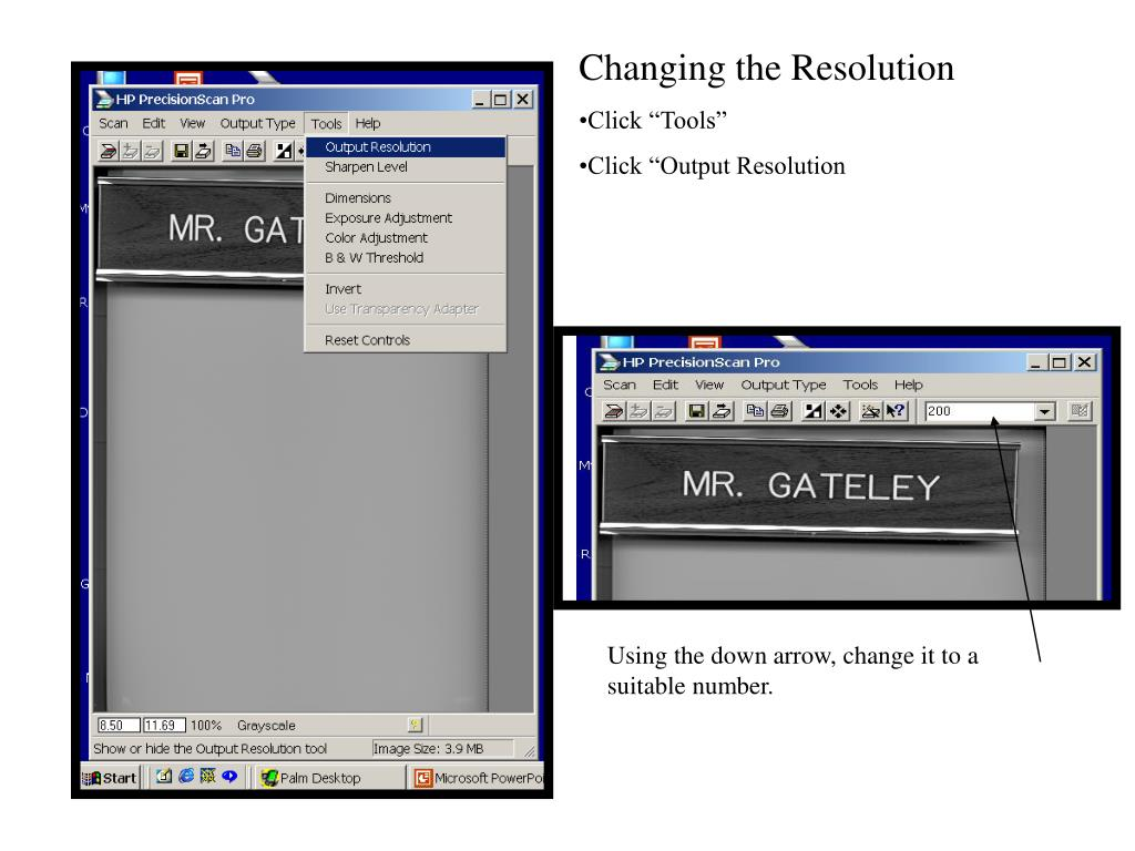 Changing the Resolution