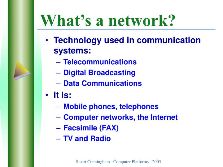 What s a network