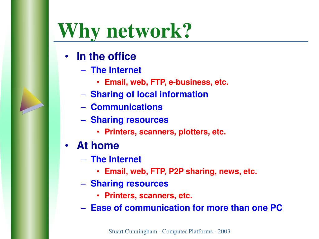 Why network?