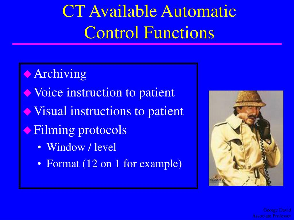 CT Available Automatic Control Functions