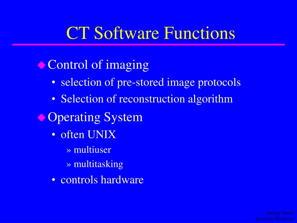 CT Software Functions