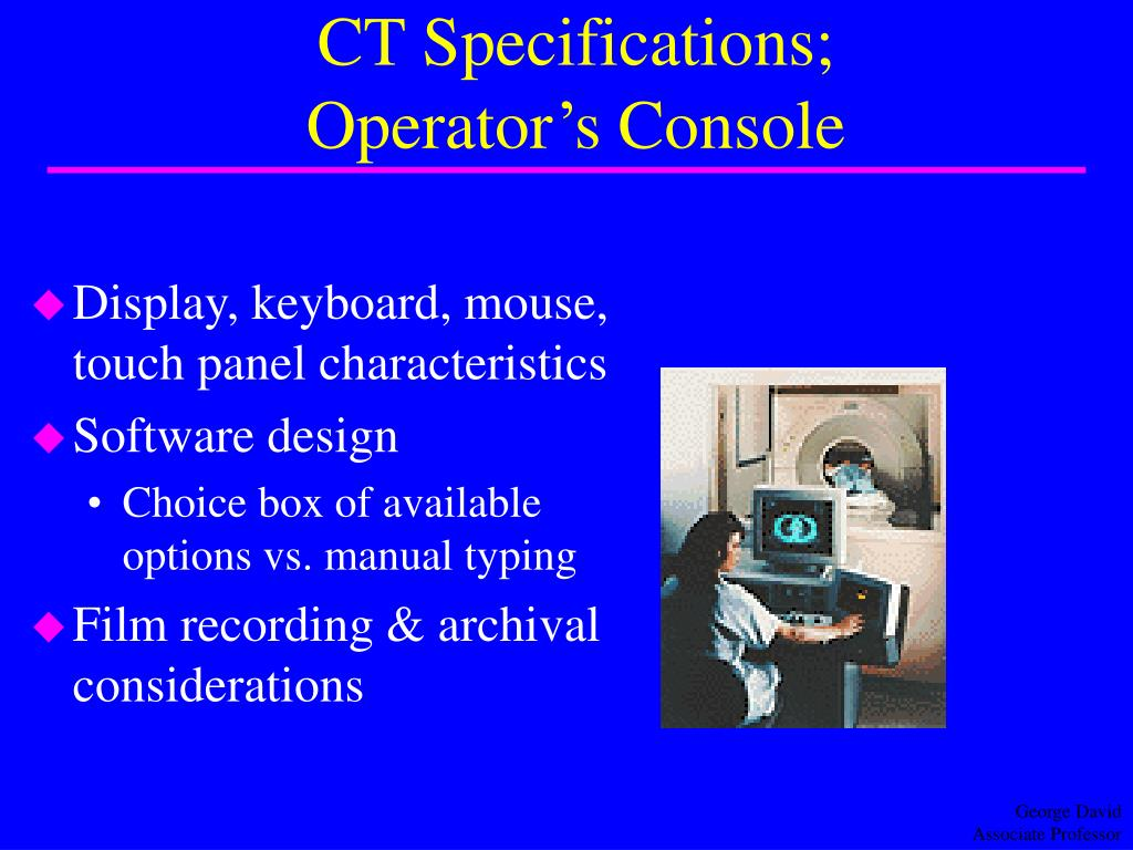 CT Specifications;