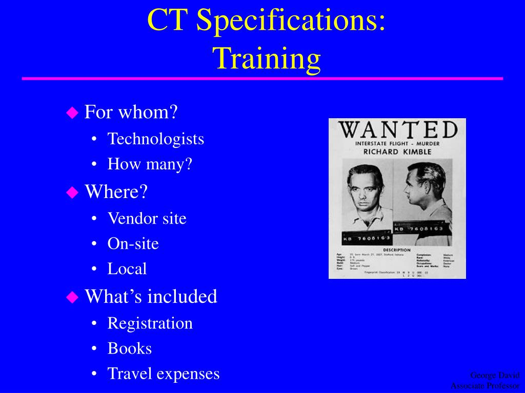 CT Specifications: