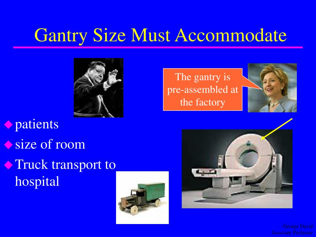 Gantry Size Must Accommodate