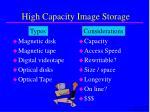 high capacity image storage