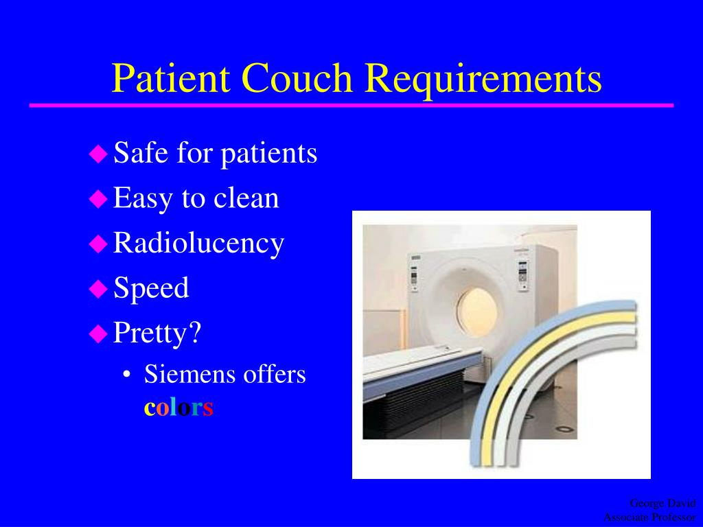 Patient Couch Requirements