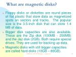 what are magnetic disks