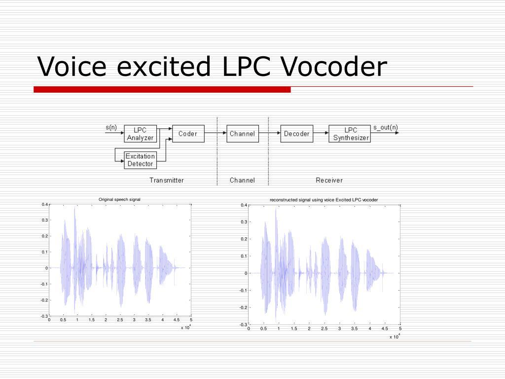 Voice excited LPC Vocoder