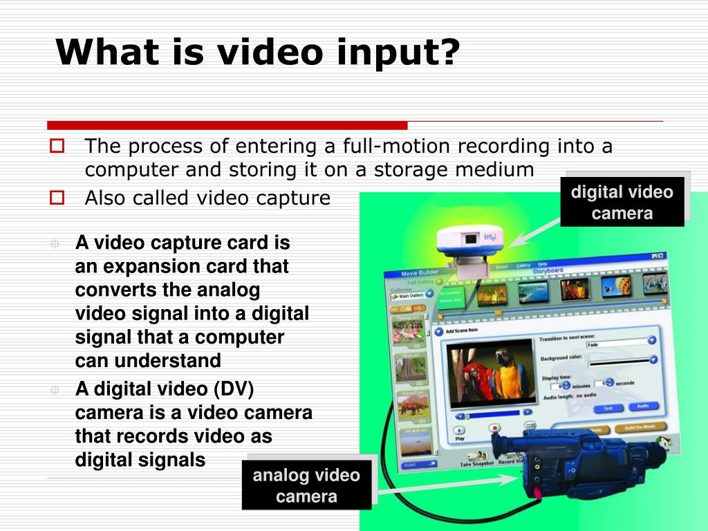 What is video input?