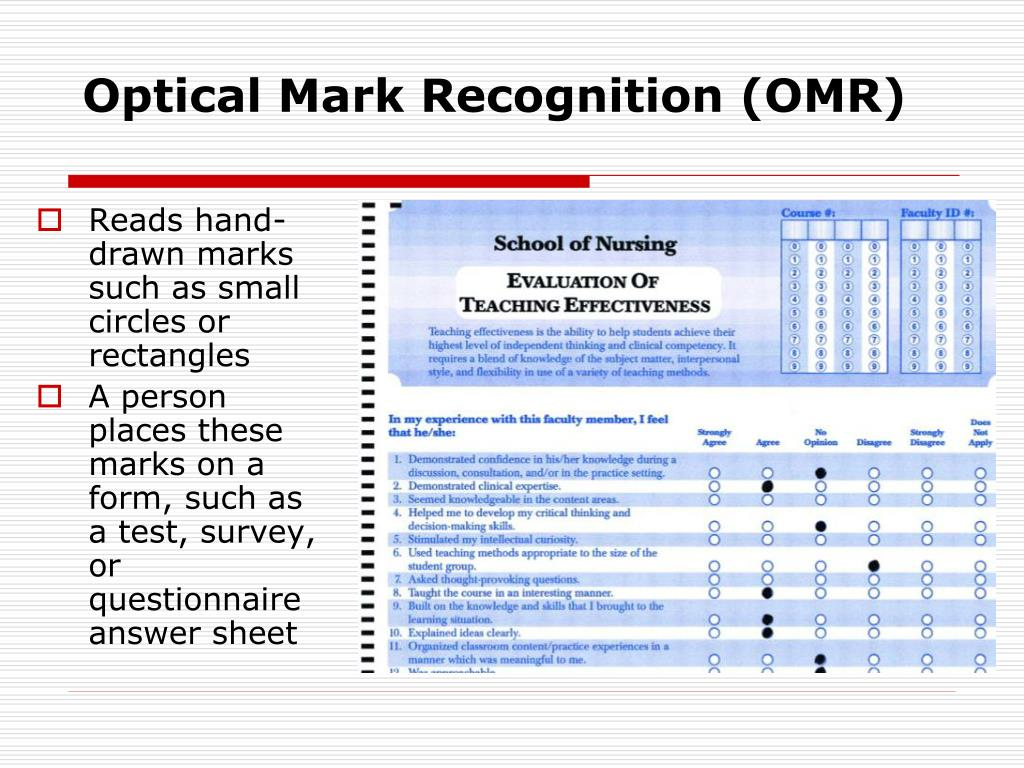 Optical Mark Recognition (OMR)