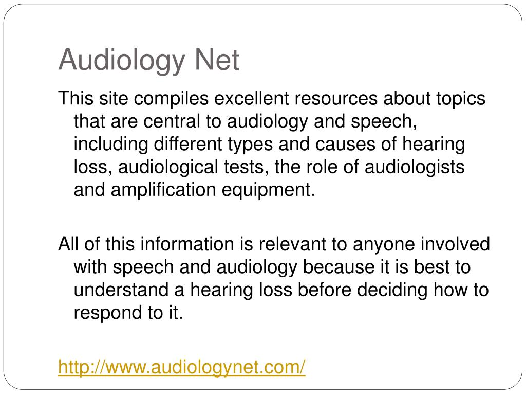 Audiology Net