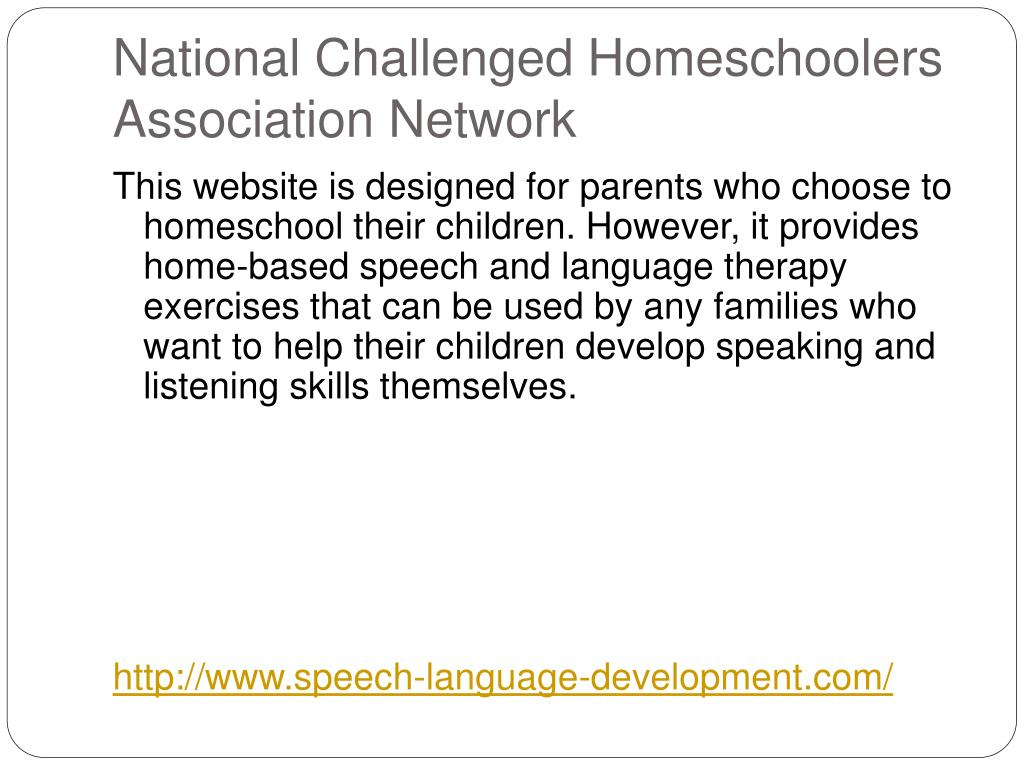 National Challenged Homeschoolers Association Network