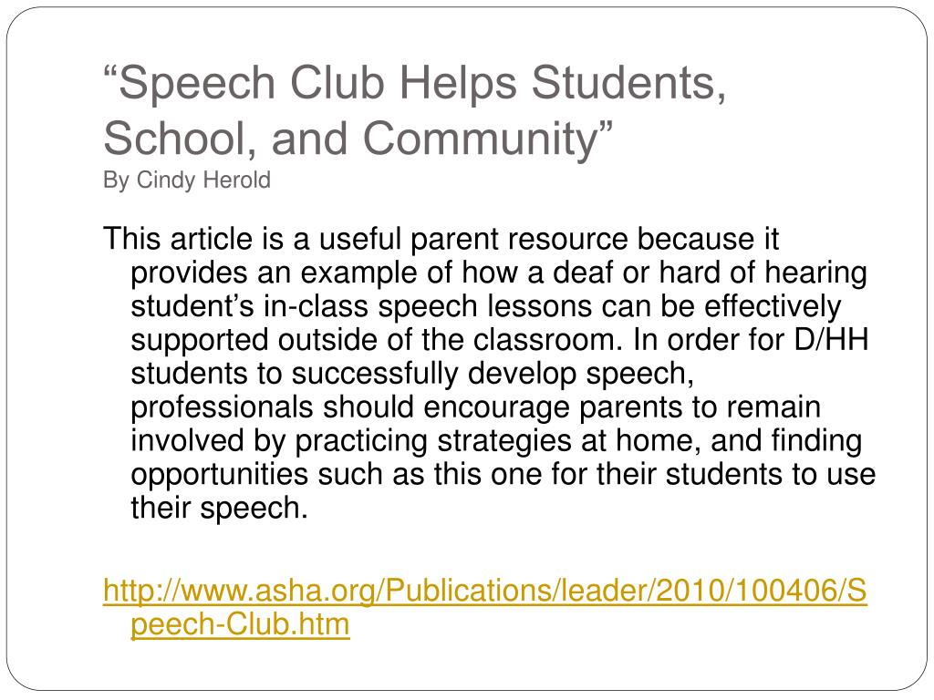 """Speech Club Helps Students, School, and Community"""