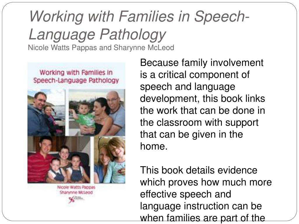 Working with Families in Speech-Language Pathology