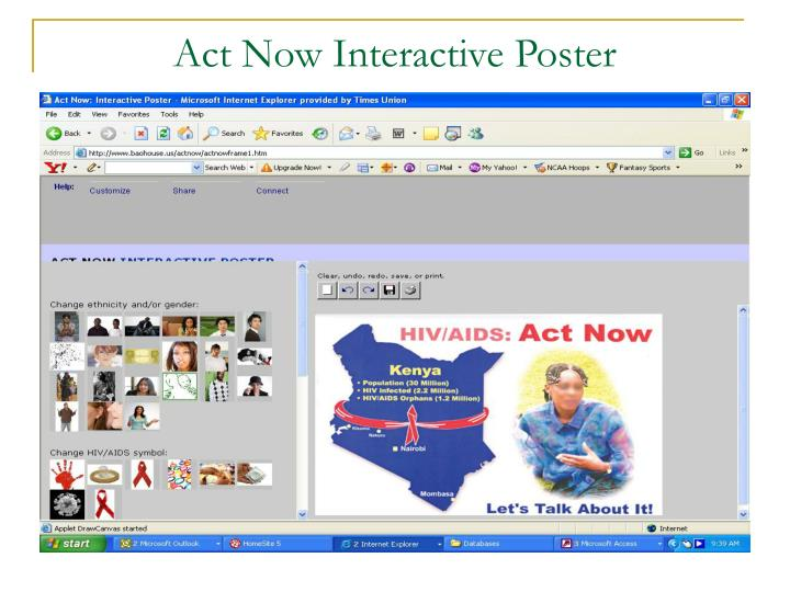 act now interactive poster n.