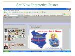 act now interactive poster