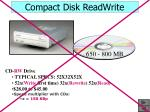 compact disk readwrite