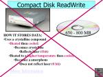 compact disk readwrite18