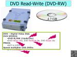 dvd read write dvd rw