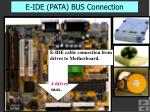 e ide pata bus connection