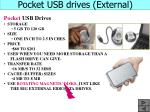 pocket usb drives external
