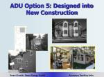 adu option 5 designed into new construction