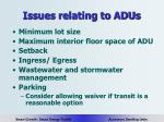 issues relating to adus19