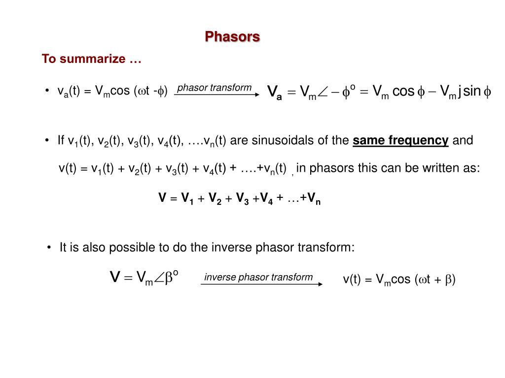 phasor transform
