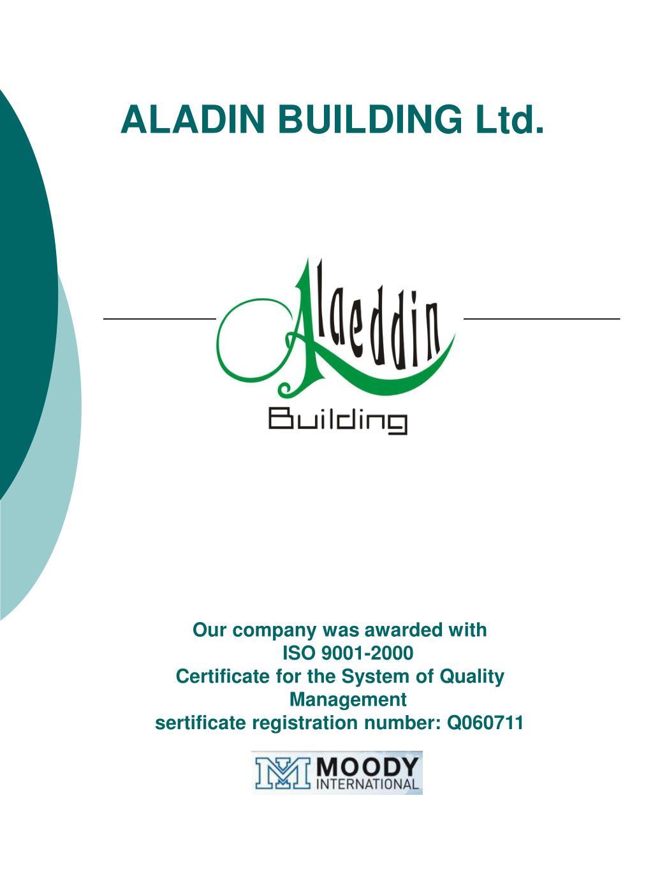 aladin building ltd l.