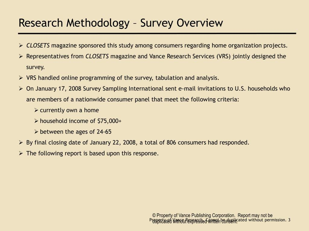 Research Methodology – Survey Overview