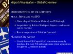 airport privatization global overview
