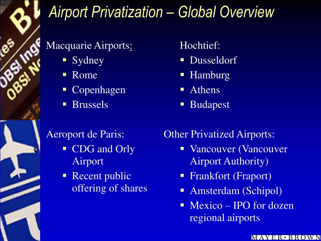 Airport Privatization – Global Overview