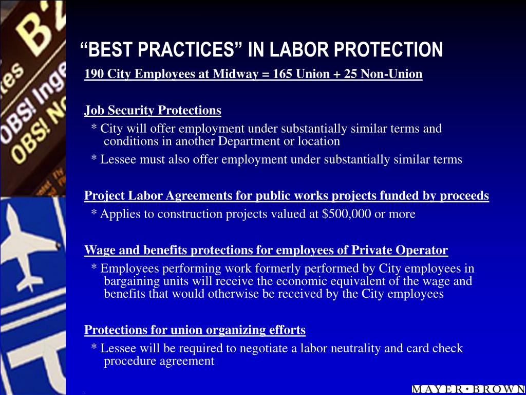 """""""BEST PRACTICES"""" IN LABOR PROTECTION"""