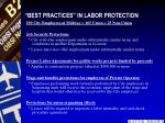 best practices in labor protection