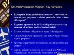 faa pilot privatization program key provisions