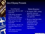 use of skyway proceeds