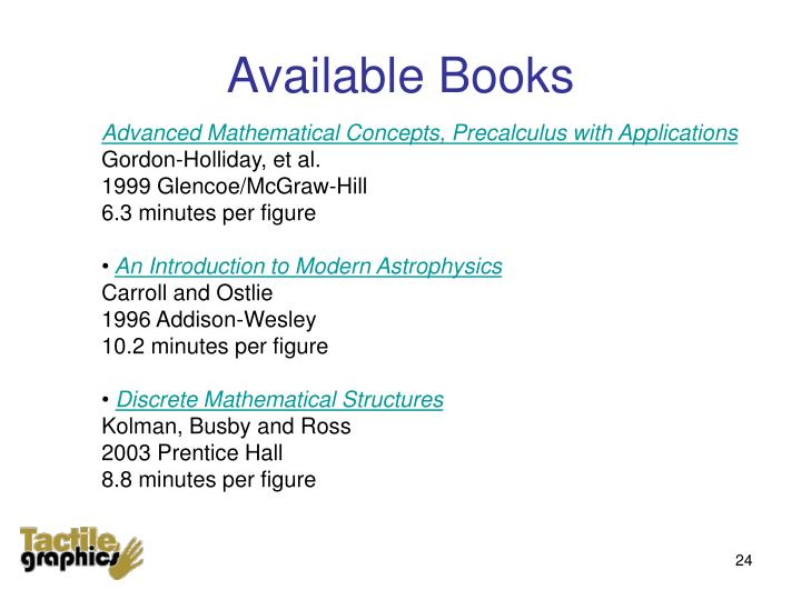 Available Books