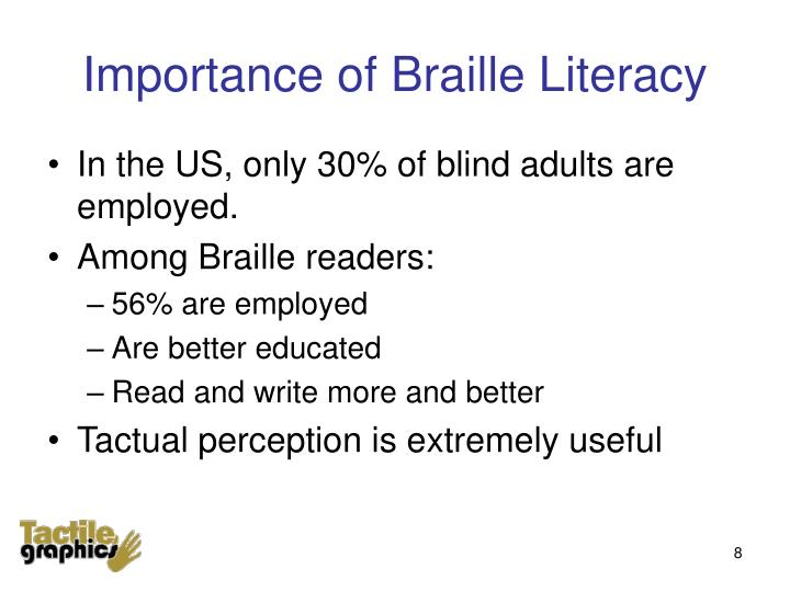 Importance of Braille Literacy