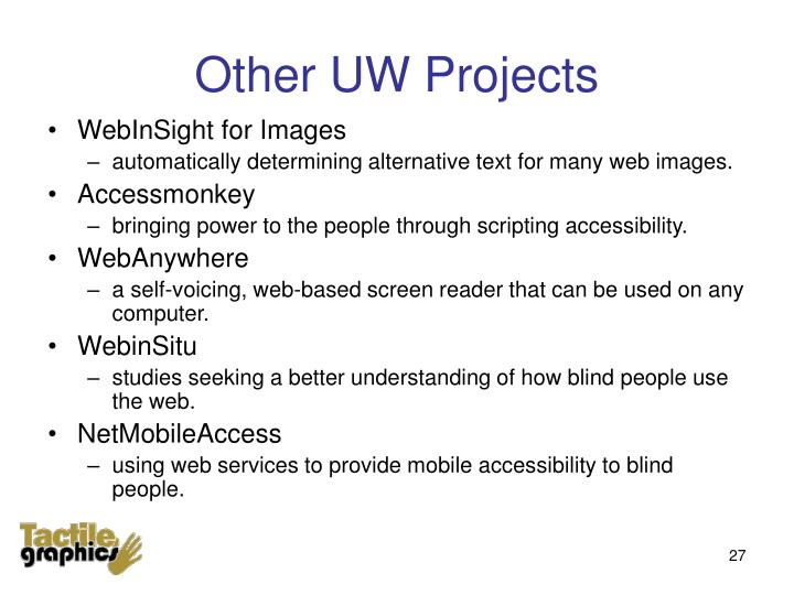 Other UW Projects
