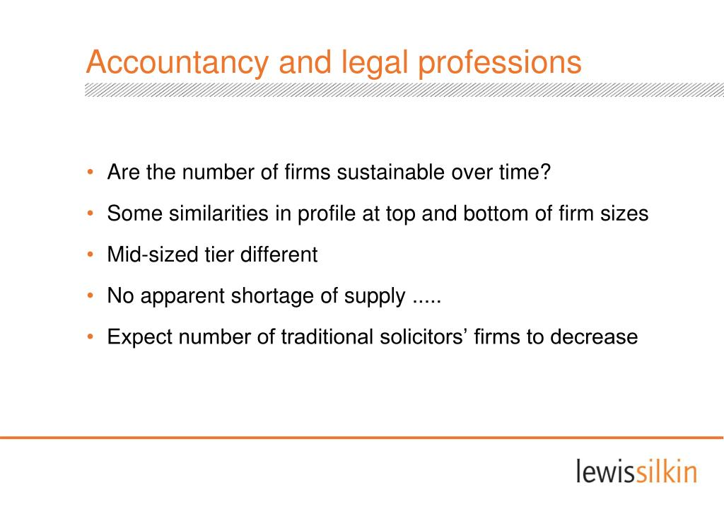 Accountancy and legal professions