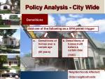 policy analysis city wide