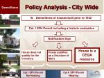 policy analysis city wide22