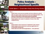 policy analysis neighborhood specific12