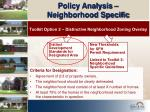 policy analysis neighborhood specific13