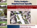 policy analysis neighborhood specific15