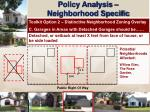 policy analysis neighborhood specific16
