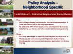 policy analysis neighborhood specific17
