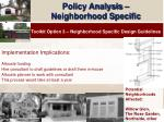 policy analysis neighborhood specific18
